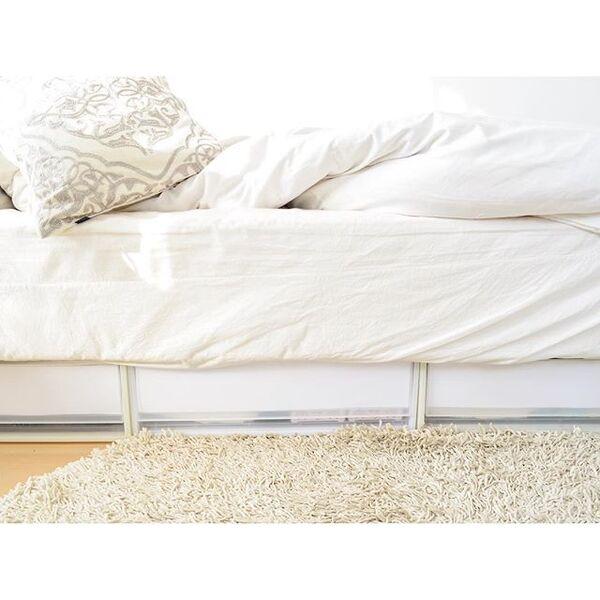 大容量なベッド下にすっきり収納するアイデア