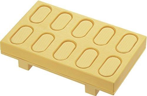 曙産業 寿司型 握り寿司 日本製 寿司げた形おすしメーカー お寿司がポンと飛び出す 一度に10貫作れる ダブルエンボス加工でごはんがくっつかない とびだせ! おすし CH-2011