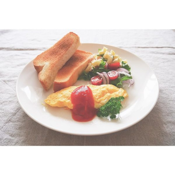 朝食に人気の卵だけレシピ!プレーンオムレツ