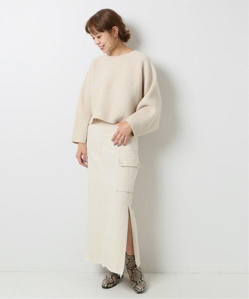 [Spick & Span] 【5 1/2】 CARGO-LINE デニムスカート2◆