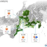 15日朝 名古屋でこの秋初の20度以下か