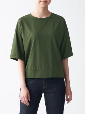 無印良品 ムラ糸天竺編み五分袖Tシャツ 1490円(税込)