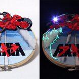 「AKIRA」金田のバイクを再現した刺繍があまりにもカッチョイイと大絶賛! 蓄光糸使用で暗闇で光る!