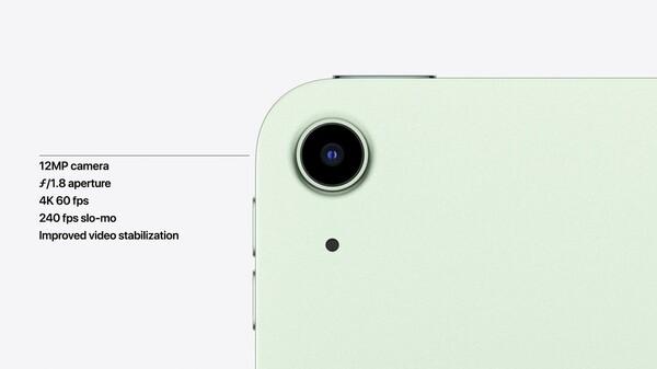 新型iPad Airのカメラの画像