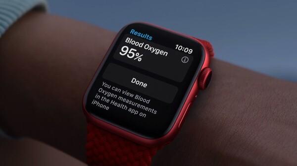 Apple Watch Series 6の 血中酸素ウェルネスを表す画像