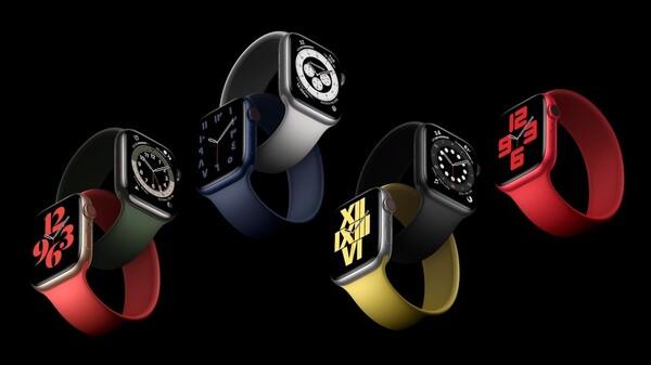 ソロループを装着したApple Watch Series 6の画像