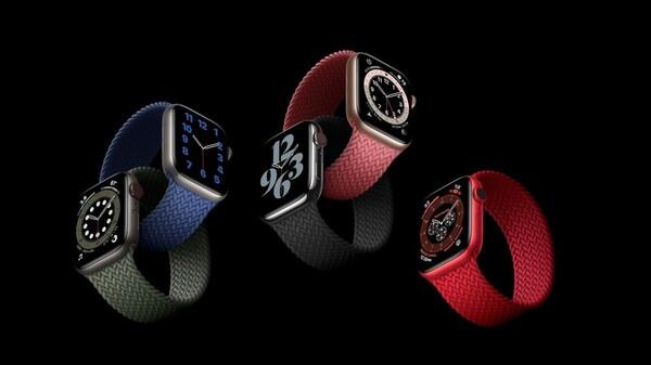 ブレイデッド・ソロループを装着したApple Watch Series 6の画像