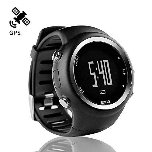 ランニングウォッチ GPS 腕時計 デジタル ウォッチ 防水 軽量 Bluetooth搭載 歩数計 EZONT031B01