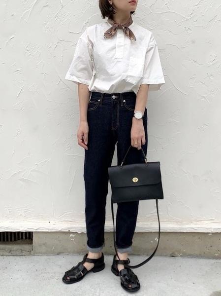 無印良品のシャツ・ブラウスコーデ