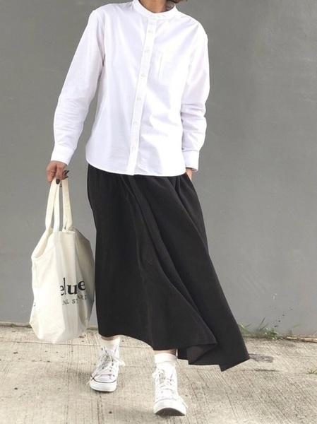 無印良品のシャツ・ブラウスコーデ2