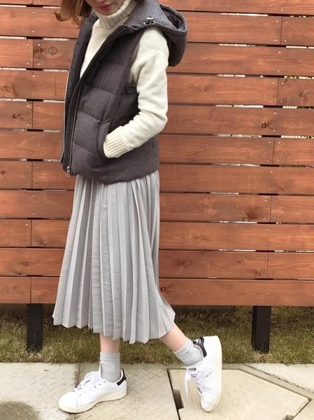 スタンスミス×グレースカートの冬コーデ