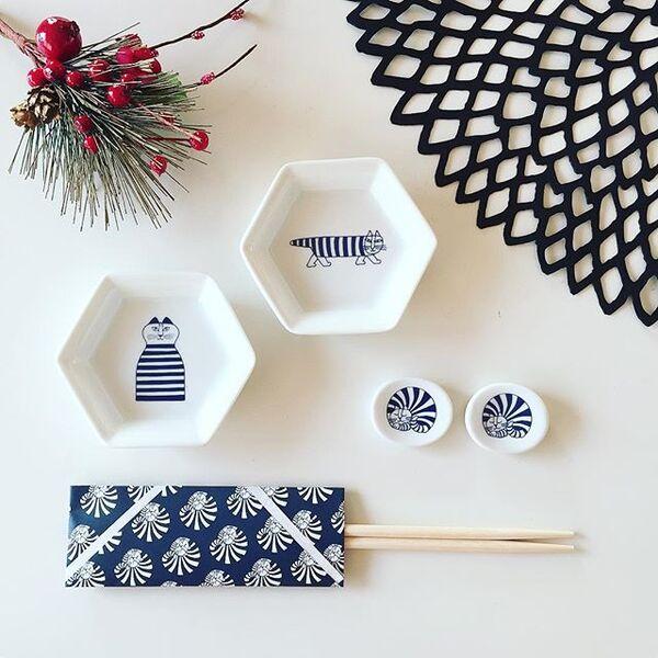 【リサラーソン】の豆皿と箸置き