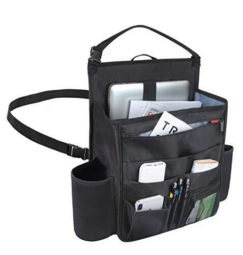 Luxja 車用収納ポケット 車 助手席 収納 多いポケット 撥水加工(黒)