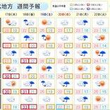 東北 あさって18日(金)は日本海側北部で雨量が多くなる恐れ