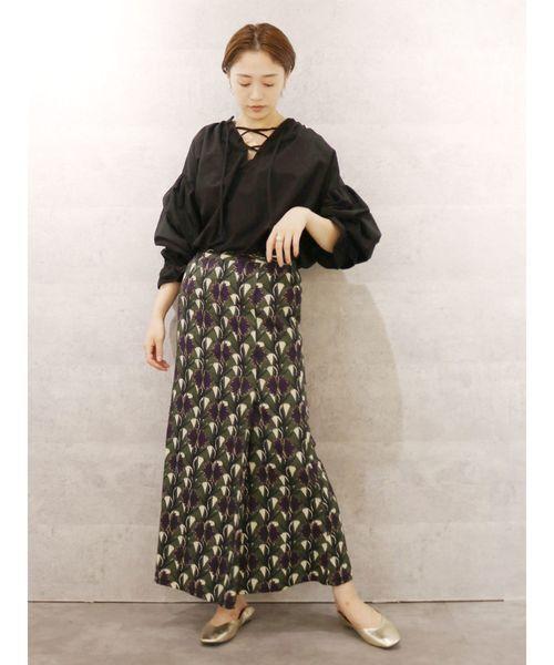 [Ungrid] バティックプリントマーメイドスカート