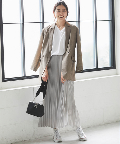[SMILE ORCHID] プリーツロングスカート