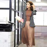40代のプリーツスカートコーデ【2020秋冬】大人のトレンドスタイル♪