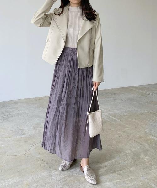 [Lian] エコレザーライダースジャケット