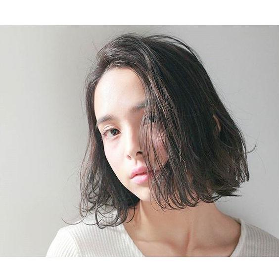 冬に人気のトレンドボブ【前髪なし】5