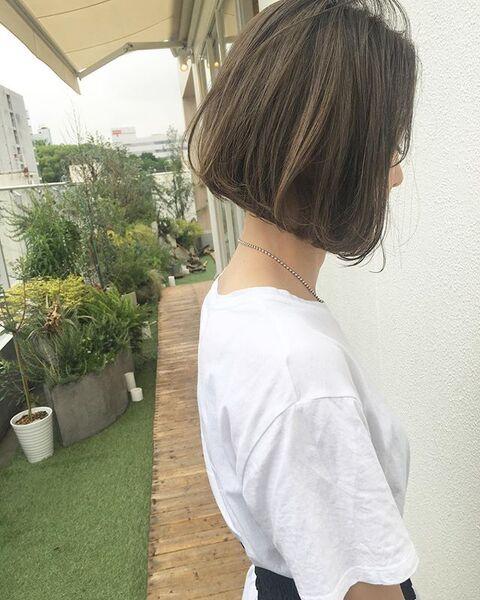 冬に人気のトレンドボブ【前髪なし】3