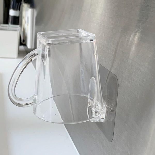 洗面所のコップの水切りに