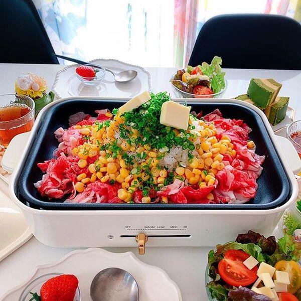 豪華に見える料理。ペッパーランチ風ご飯