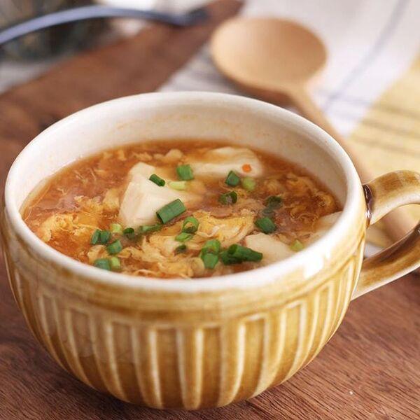 麻婆風に!ピリ辛中華スープ