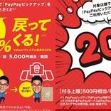 PayPayピックアップ登録店舗1万店突破、20%還元のキャンペーンも
