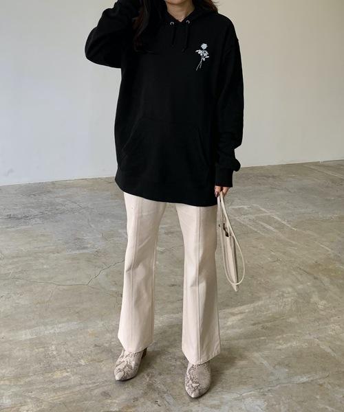 [Lian] バックロゴプリントパーカー