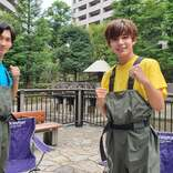 なにわ男子・藤原丈一郎&長尾謙杜、ジャニーズ初「池の水ぜんぶ抜く」参戦