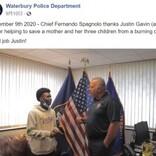 炎に包まれた車から母子4人を救出した18歳少年「本能がそうさせた」(米)