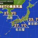 東海や関東 気温上がらず 東京都心は約2か月ぶりに25度以下