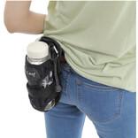 リュックやベルトに装着できる、ペットボトルホルダー兼折りたたみ傘ホルダー
