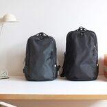 荷物が多くても見た目スッキリ。オンオフも使える機能的リュック