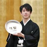 藤井棋聖「特別な感慨」紋付きはかま姿で就位式出席 棋士とアスリートの共通点も語る