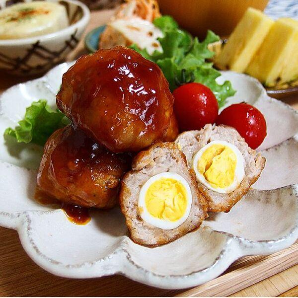 うずらの卵入り豚こまミートボール