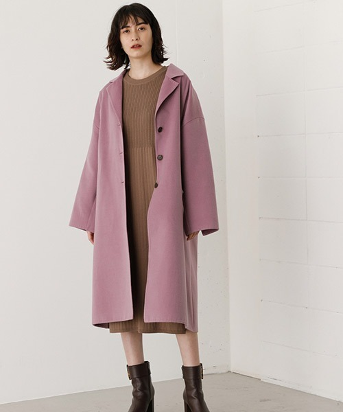 [AZUL BY MOUSSY] LOOSE CHESTER REVER COAT/ルーズチェスターリバーコート
