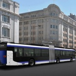 神戸市、来年4月より三宮~ウォーターフロント間の連節バスを本格運行