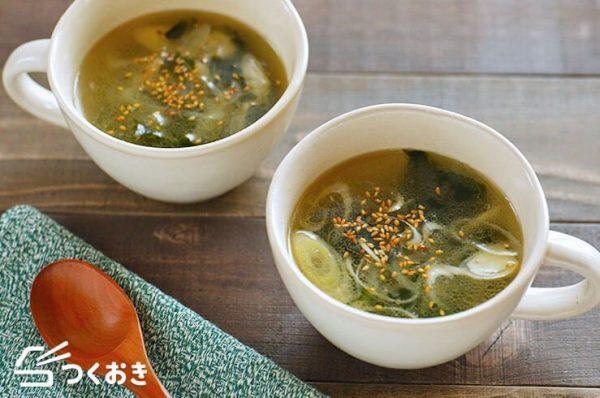秋のおすすめ汁物人気レシピ☆朝食9