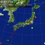 ここ1週間の地震回数 東海や甲信で最大震度4
