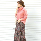 くすみピンクニットの大人コーデ【2020秋冬】大人女性の着こなし方をご紹介♡