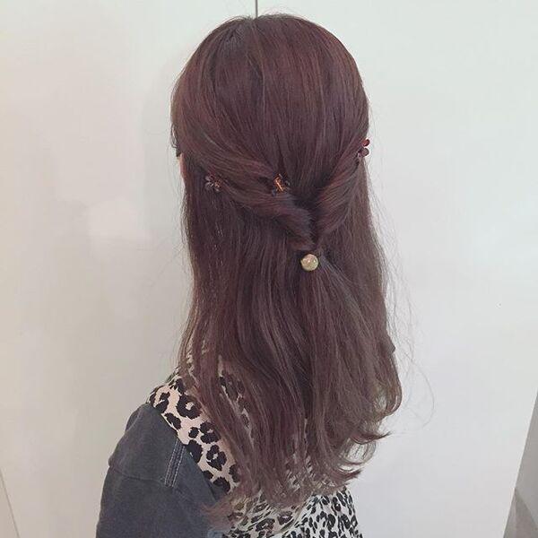 ストレートヘアアレンジ11