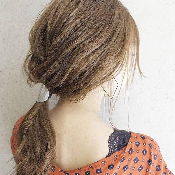 ストレートヘアアレンジ13