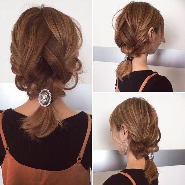 ストレートヘアアレンジ7