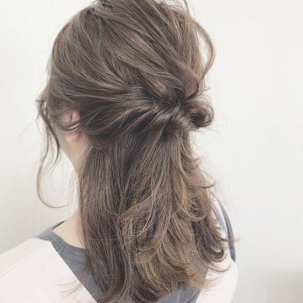 ストレートヘアアレンジ8