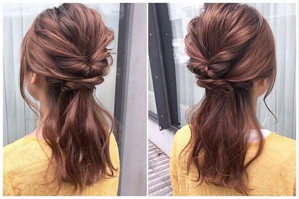 ストレートヘアアレンジ9