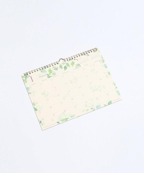 [Afternoon Tea LIVING] 水彩グリーン壁掛けカレンダー