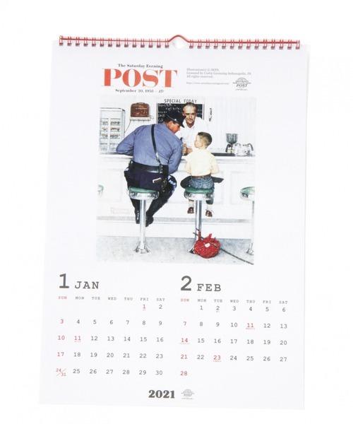 [niko and...] [2021ダイアリー]Norman Rockwell POST壁掛けカレンダー