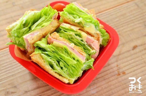 絶品。レタスとハムの簡単サンドイッチ