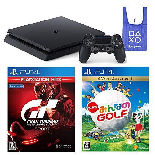 PlayStation 4   グランツーリスモSPORT   New みんなのGOLF   オリジナルデザインエコバッグ セット (ジェット・ブラック) (CUH-2200AB01)